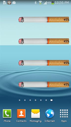 電池 - 捲菸的Widget