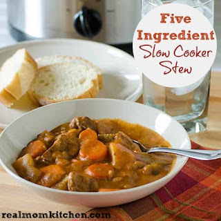 5 Ingredient Slow Cooker Stew.