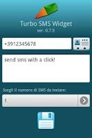 Screenshot of Turbo SMS Widget