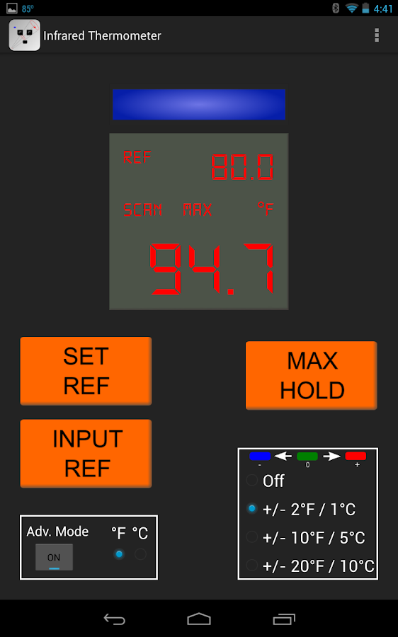 IR Thermometer- screenshot