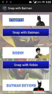 Snap with Batman - screenshot thumbnail