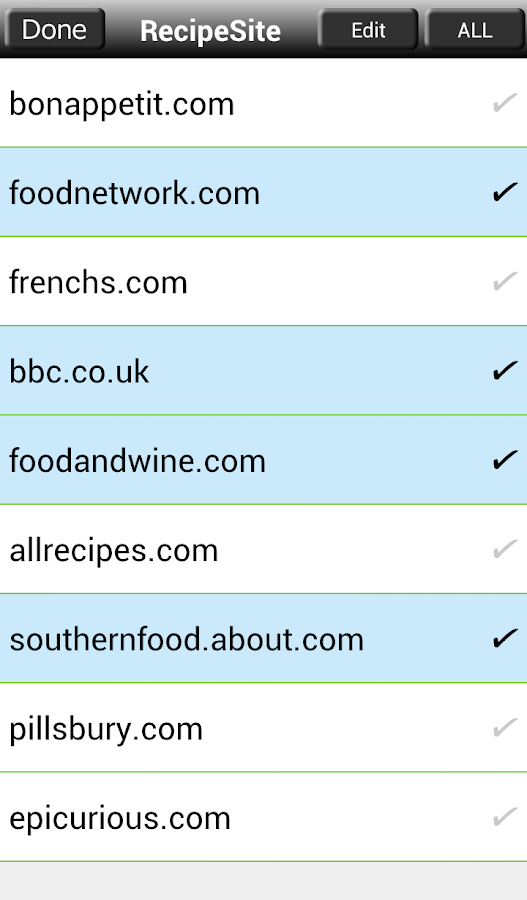 Recipe Search for Android - screenshot