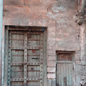 small door and big door by Neha Shah  - City,  Street & Park  Street Scenes