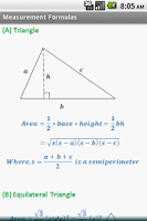 Screenshot of Geometry Formulas (Free)