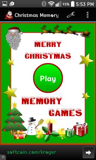 Christmas Memory Games