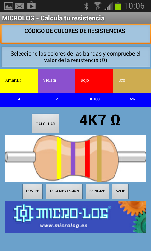 Colores de Resistencias- screenshot