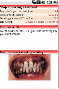 Stop Smoking assistant - screenshot thumbnail