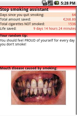 Stop Smoking assistant - screenshot