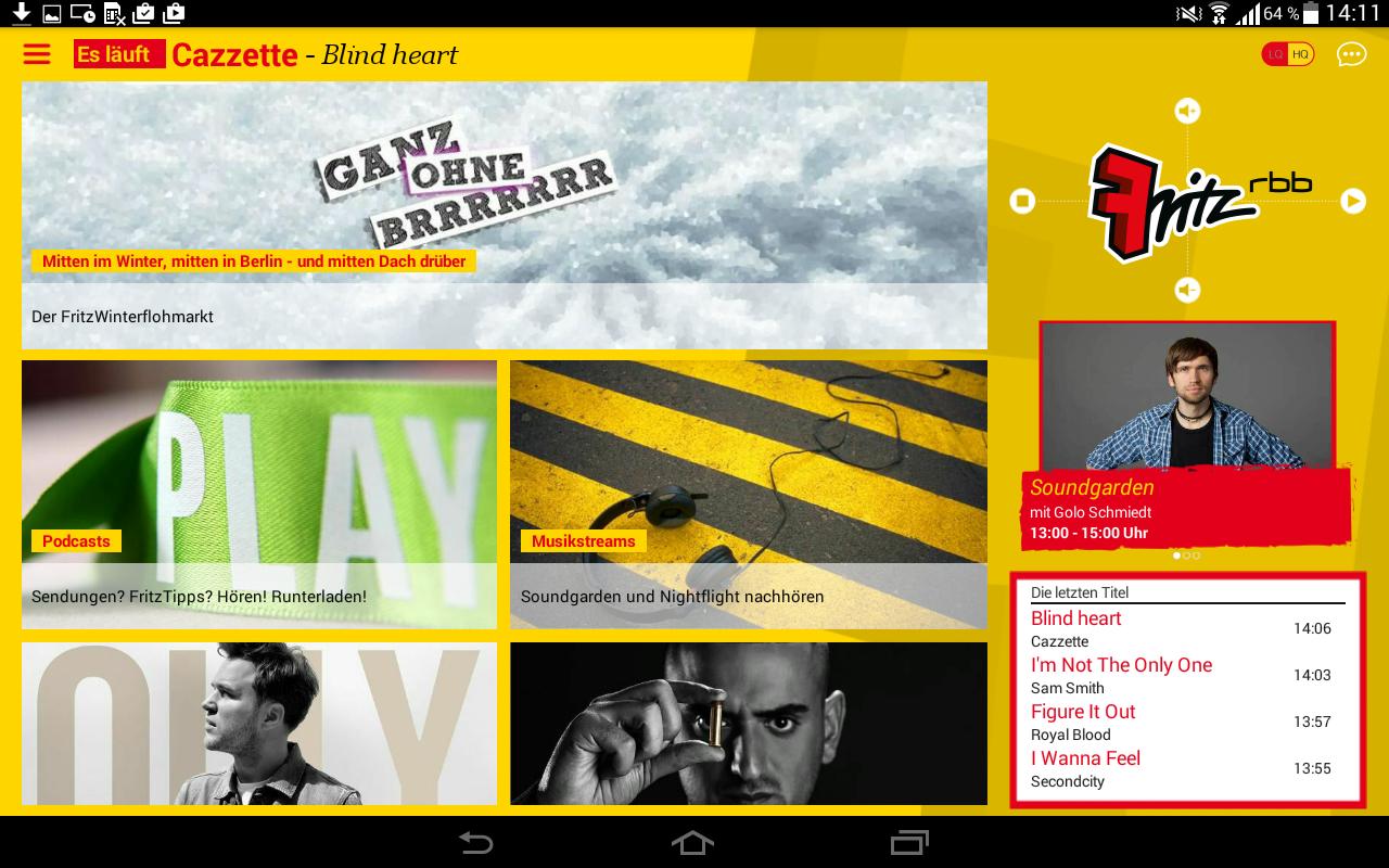 Radio Fritz - screenshot