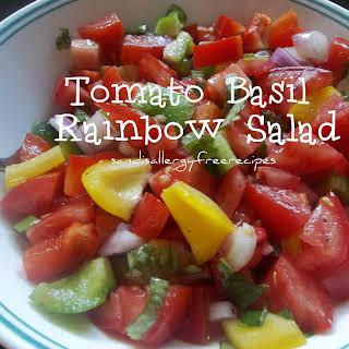 Tomato Basil Rainbow Salad.