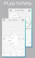 Screenshot of Pure White GO Keyboard Theme