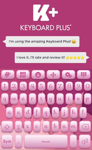 柔和的粉红色键盘主题