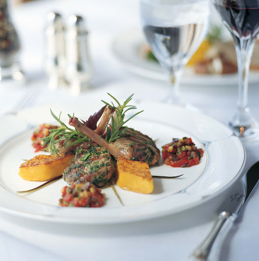 Culinary-Experiences-Lamb-Chops-1 - Succulent lamb chips are expertly prepared on the Crystal Symphony.