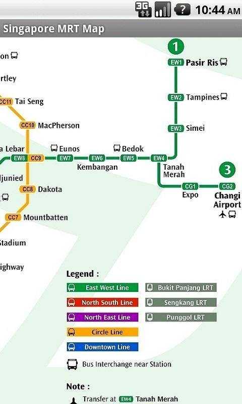 Singapore MRT Map - screenshot