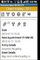 Screenshot of Insurance Agent ON GO