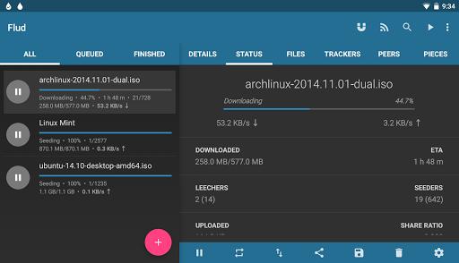 Flud - Torrent Downloader 1.4.9 screenshots 11