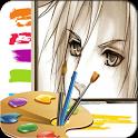 Cartoon PaintBrush MomentCam icon