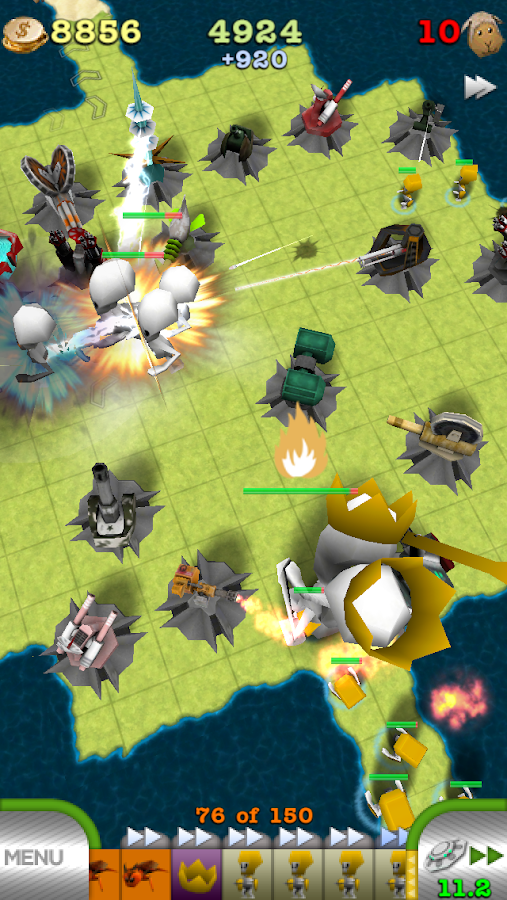 TowerMadness: 3D Tower Defense- screenshot