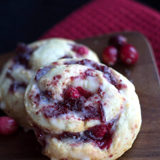 Iced Cranberry & Orange Swirl Scones