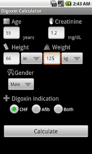 Digoxin Calculator- screenshot thumbnail