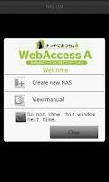 Screenshot of WebAccess A