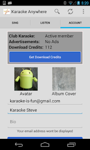 Karaoke Anywhere for Android - screenshot thumbnail