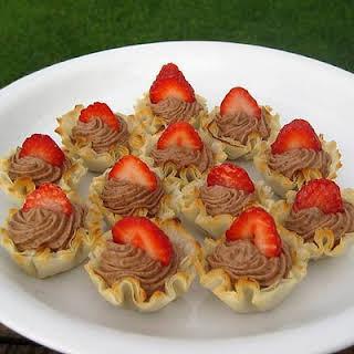 Pastry Cream Filled Fillo Shells.
