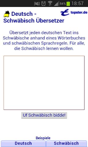 Deutsch Schwäbisch Übersetzer