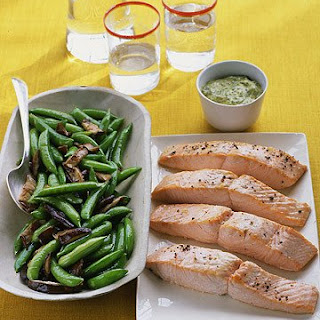 Salmon with Herbed Mustard Sauce.
