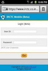 IRCTC Mobile Booking