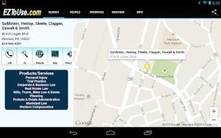 Screenshot of EZToUse.com Yellow Pages