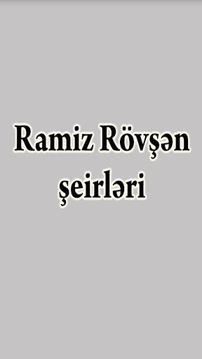 Ramiz Rövşən - şeirləri