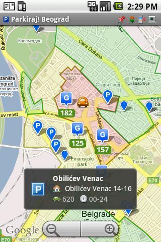 Parkiraj Beograd PS- screenshot