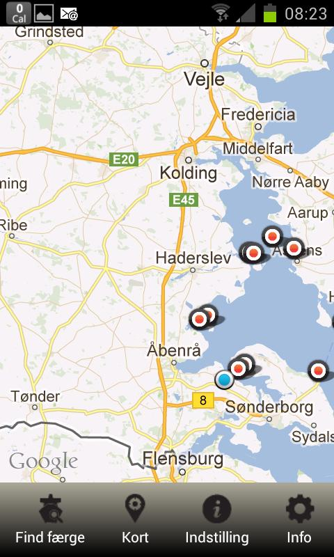 Faerge.dk your ferry departure- screenshot