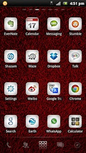 Shaggy Red GO theme - screenshot thumbnail