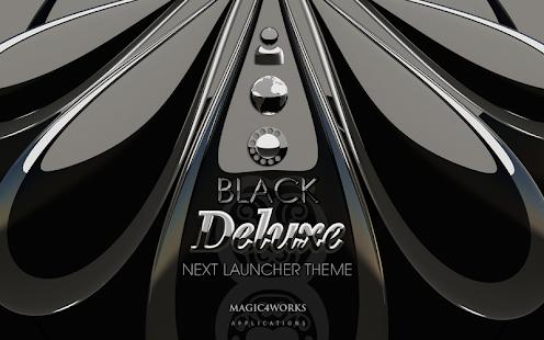 Next Launcher Theme Black