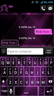 GO SMS Pink Tron Theme - screenshot thumbnail