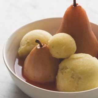 It's A Poached Pear Sorbet.