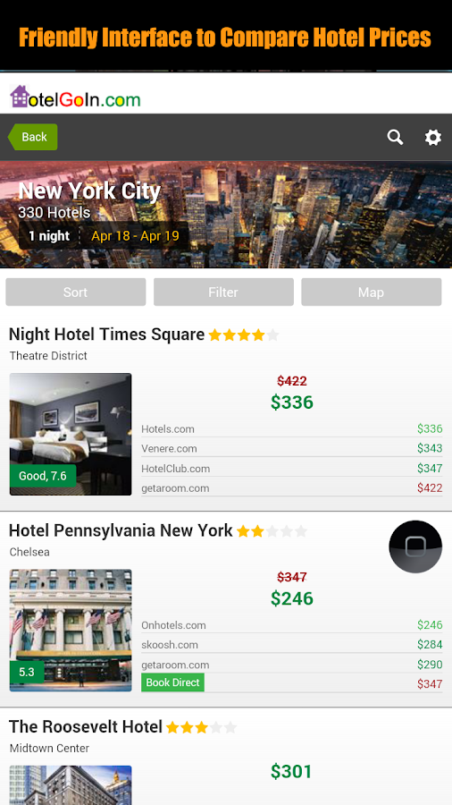 HotelGoIn - Your Hotel Expert- screenshot