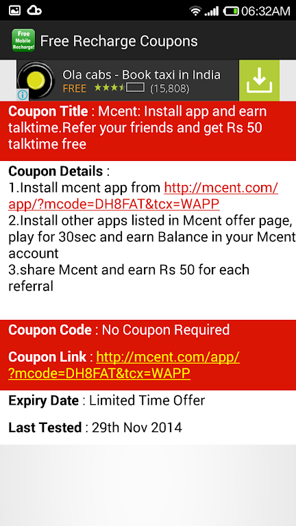 Download Free Mobile Recharge Coupons APK latest version app