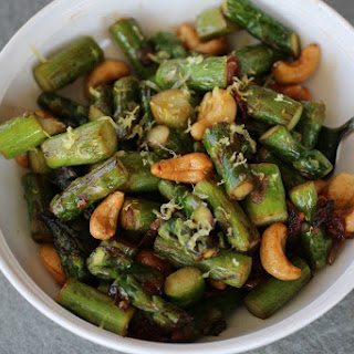 Asparagus with Lemon & Cashews