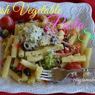 Fresh Vegetable Pasta Salad.