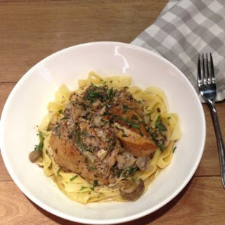 Braised Chicken in White Wine and Tarragon