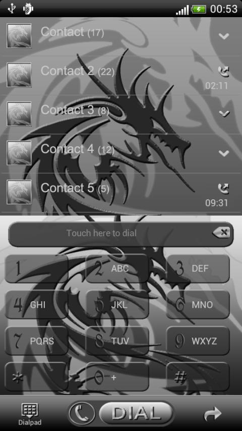 Tribal Dragon GO Contact theme - screenshot