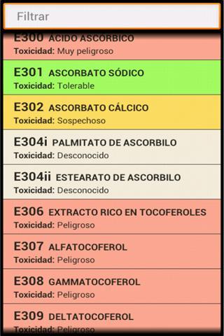 Food Additives (ES)- screenshot