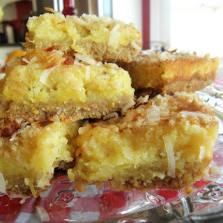 Irresistable Tropical Pineapple & Coconut Bars
