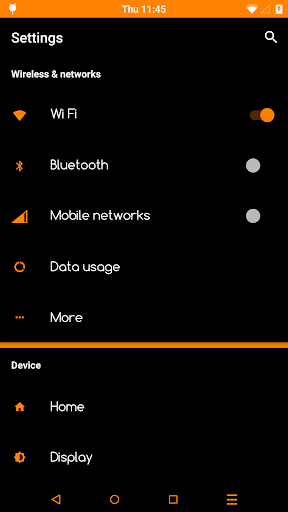 Black Orange PRO Layers Theme