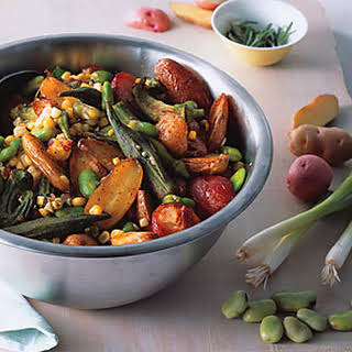 Roasted Potato and Okra Salad.