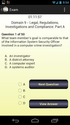 CISSP Evaluator Domain 9