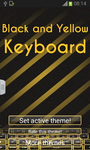 黑色和黃色的鍵盤